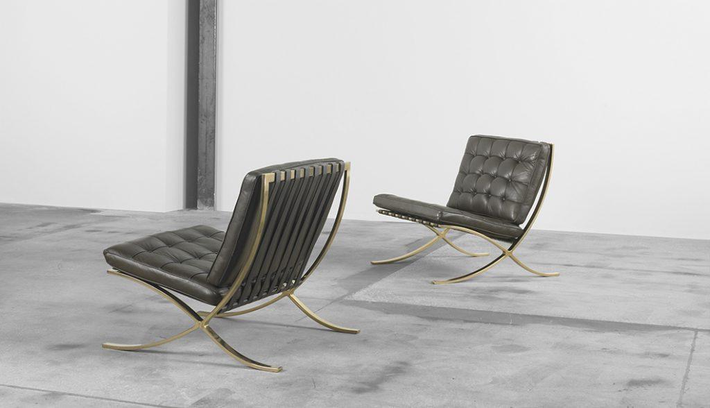 barcelona chair in luxe uitvoering