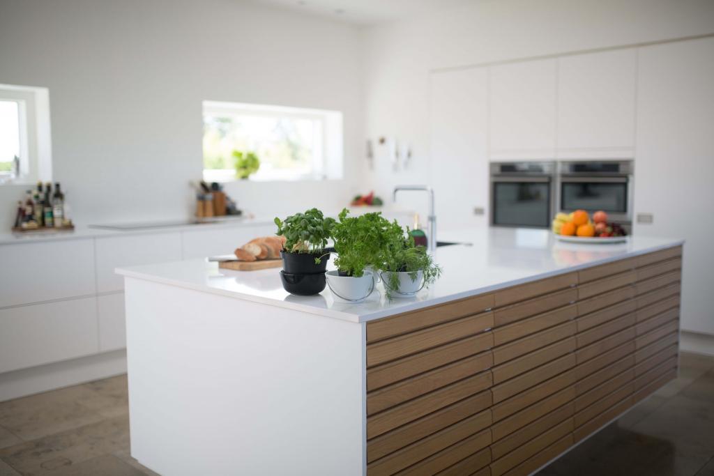 Keuken met duurzaam aanrechtblad